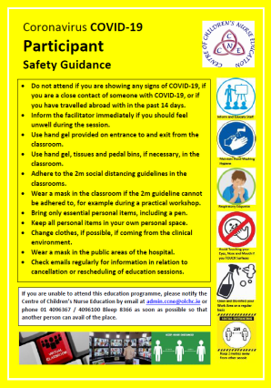 Coronavirus COVID-19 Participant Safety Guidance IMAGE